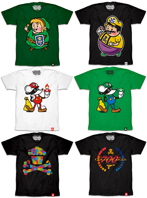 The Johnny Cupcakes Video Game T-Shirt Collection Part 2