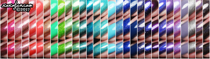 xoxoJen's swatch collage of Literary Lacquers
