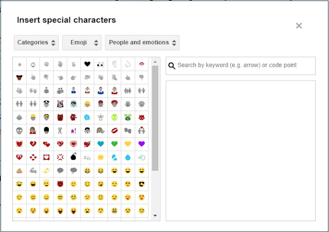 How To Use ASCII Special Characters in Blogger Posts and pages?