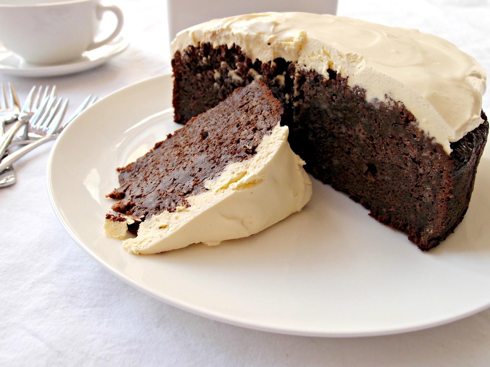 Chocolate Creme Fraiche Cake Topping