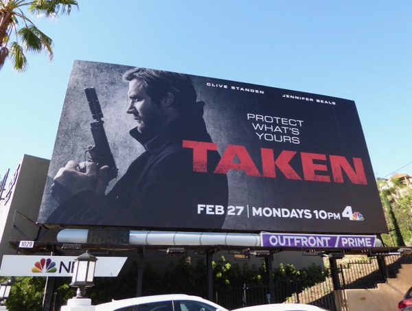 Taken TV remake launch billboard
