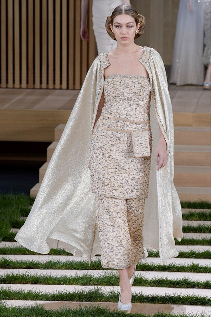 Gigi Hadid Alta Costura Chanel Paris Modelo Haute Couture