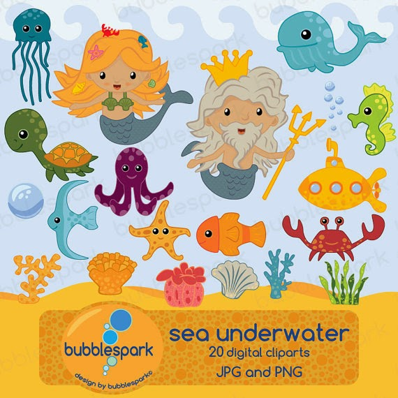 We just launched our new clip art set, the sea underwater world.