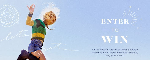 Free People, Away, Teva, Well & Good, and Pure Wow want you to enter once for your chance to win a Free People curated getaway package including FP Escapes wellness retreats, Away gear and more!