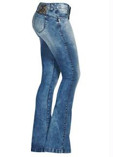calças altas jeans