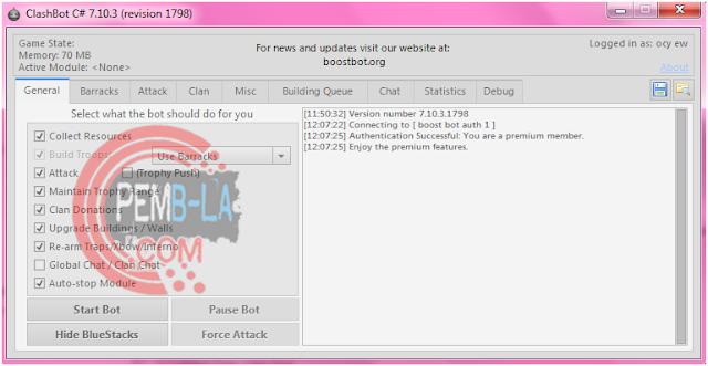 Tab General Clashbot 7.10.3 VIP