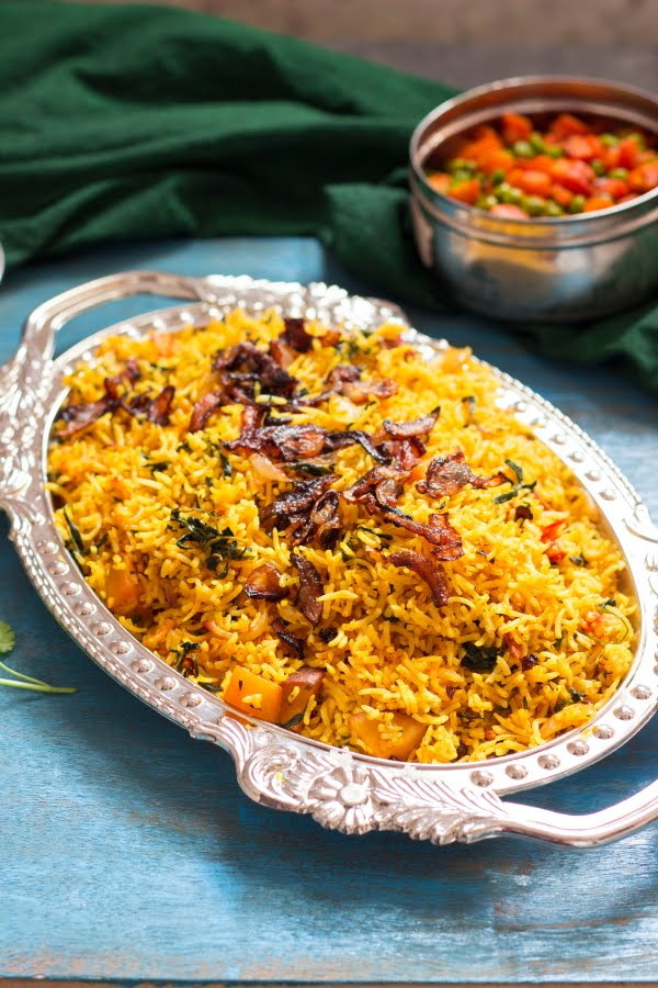 How to make methi rice recipe at www.oneteaspoonoflife.com How to make Fenugreek Pilaf recipe How to make Methi Pulao recipe at One Teaspoon Of Life