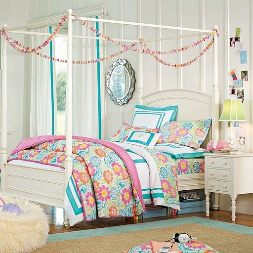 Stylish teen bedroom ideas for girls home interior motive - Colorful teen bedroom designs ...