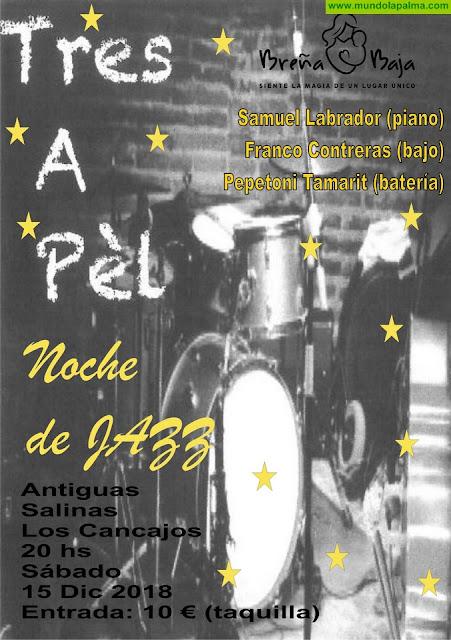 """BREÑA BAJA NAVIDAD: Noche de Jazz con """"Tres a Pél"""""""