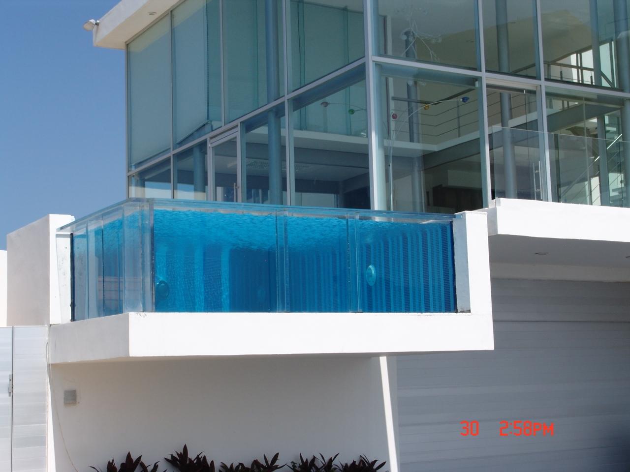 Construcci n de albercas acr lico para albercas - Vidrio para piscinas ...