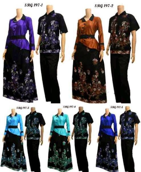 Baju Seragam Batik Sarimbit Pasangan Pria Wanita Model Terbaru
