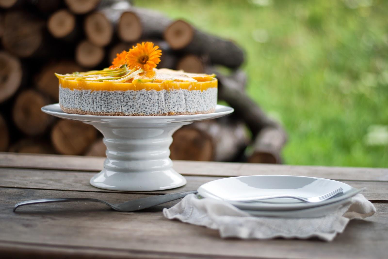 Tort owocowy bezglutenowy bez laktozy na zimno