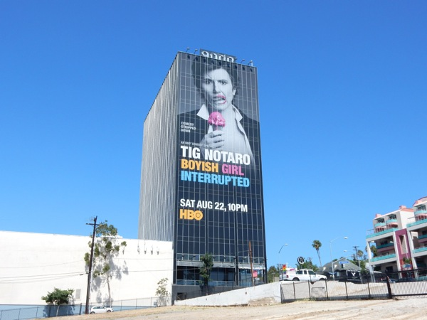 Giant Tig Notaro Boyish Girl Interrupted billboard Sunset Strip