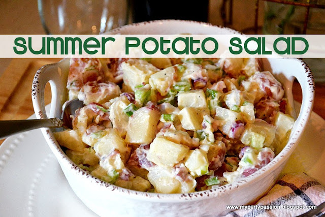 how to make a summer potato salad, ingredients needed for potato salad