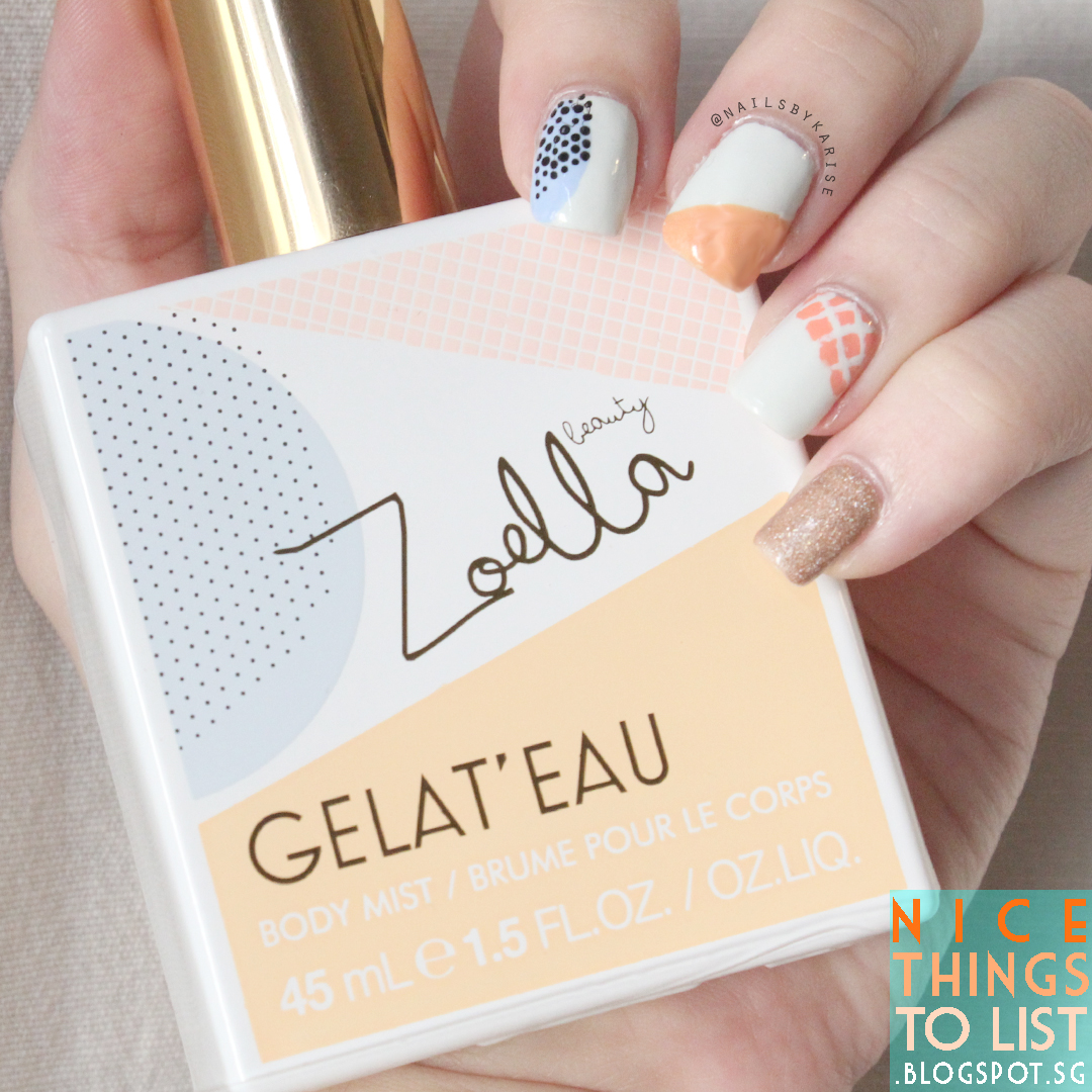 Zoella Beauty Gelat\'eau Body Mist Inspired Nail Art - Nice Things To ...