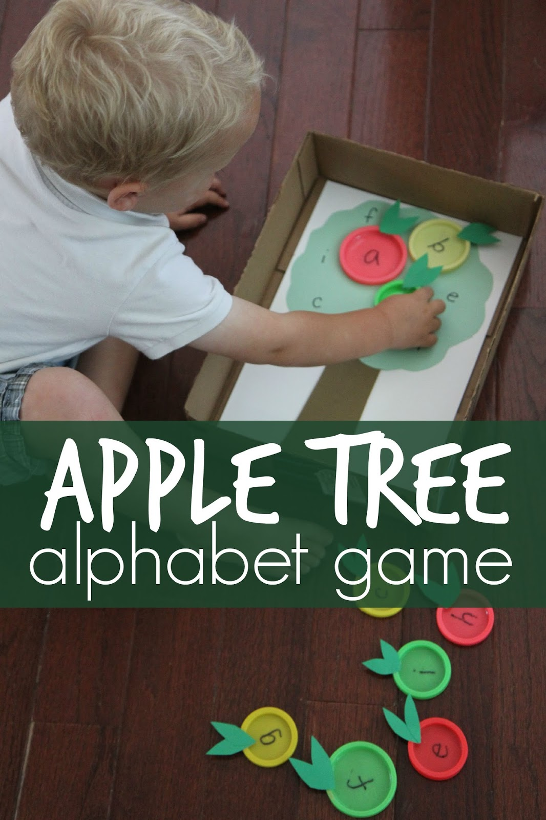 Toddler Approved Apple Tree Lid Matching Alphabet Game