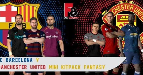 PES 2017 Barcelona & Manchester United Fantasy Kits