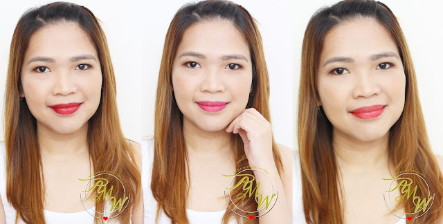 A photo of L'Oreal Tint Caresse Plum Blossom, Tulip Blossom and Orchid Blossom