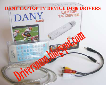 DANY D-480I USB TV DEVICE DRIVERS UPDATE