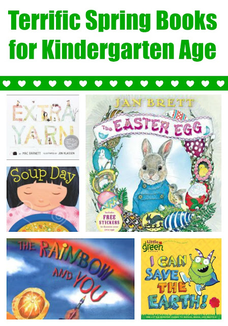 Spring books for kindergartners with extension activities