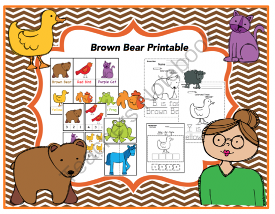 Brown Bear Printable (Redone)