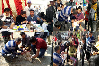 free Animal Health camp at jogighat