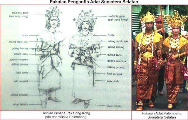 baju adat sumatera selatan