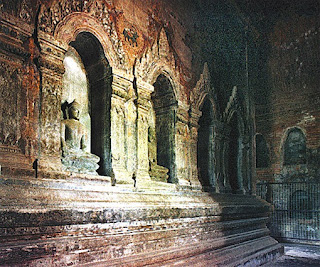 Buddhist Temple in Bagan Interior