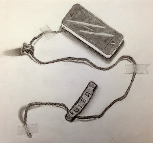High School Art: Trompe L'Oiel Drawings