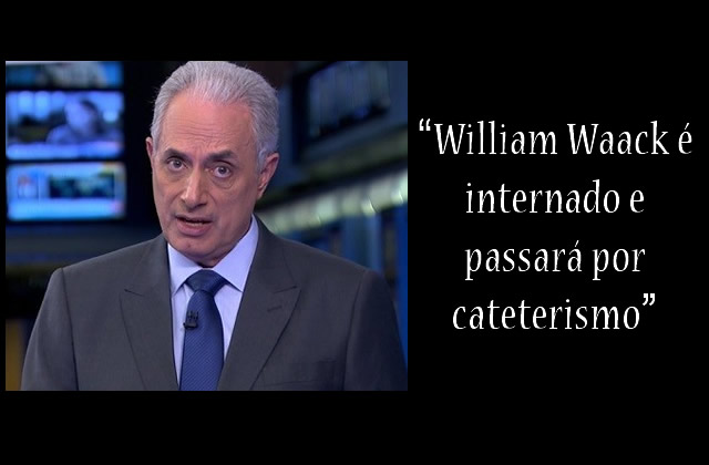 William Waack é internado no Sírio-Libanês.