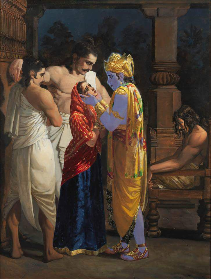 Pandavas And Krishna