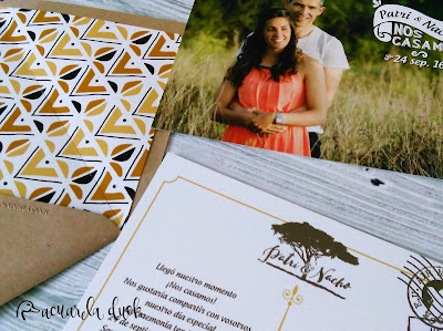 Invitación boda safari