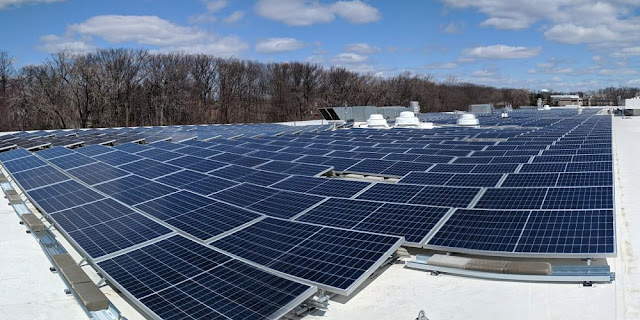 Image Attribute: Newly installed solar arrays at Unilever North America's HQ Englewood Cliffs, N.J.