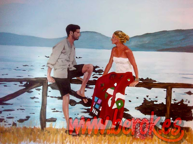 mural pintado a mano de fotografía