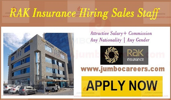 Insurance company jobs in Dubai and Abu Dhabi, UAE sales jobs with benefits,