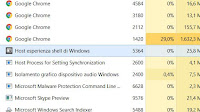 "Processo ""Host Esperienza Shell di Windows"" se usa troppa memoria in Windows 10"