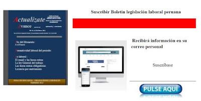 Suscribirse boletin legislacion laboral peruana