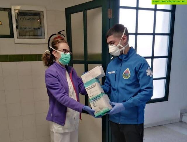 AEA en La Palma dona mascarillas al Centro de Salud de Santa Cruz de La Palma