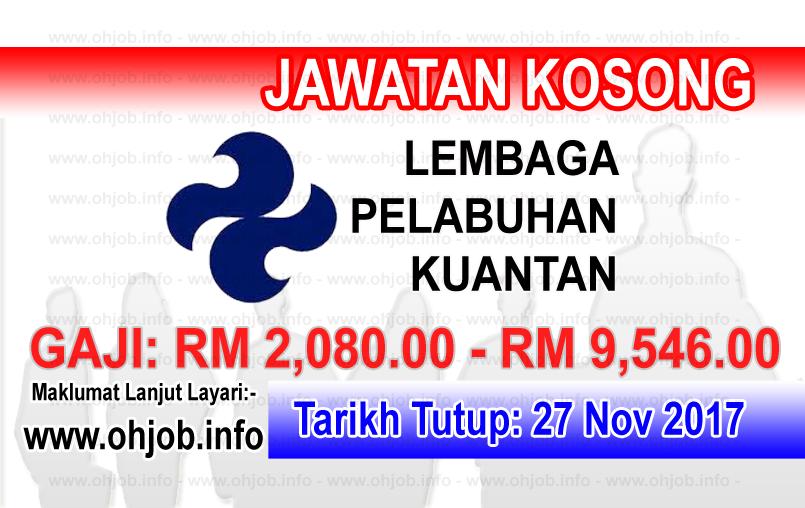Jawatan Kerja Kosong LPKTN - Lembaga Pelabuhan Kuantan logo www.ohjob.info november 2017