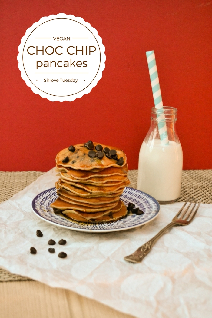 Healthier Blender Chocolate Banana Pancakes With Chocolate