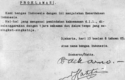 Perumusan Teks Proklamasi Kemerdekaan Indonesia