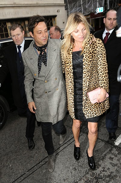 Kate Moss, Jamie Hince with spouse