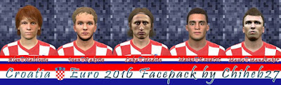 PES 2016 Croatia Euro 2016 Facepack by Chiheb27