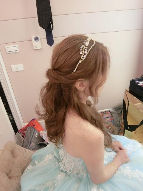 半盤髮 |  典雅髮飾 | 簡約髮飾 | 細細的飾品