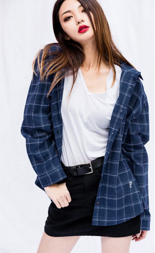 Checkered One Pocket Button-Front Shirt