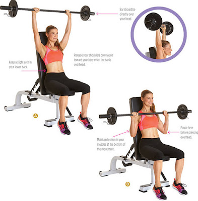 women's health - BARBELL OVERHEAD PRESS