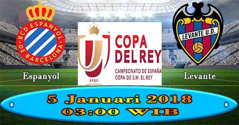 Prediksi Bola855 RCD Espanyol vs Levante 5 Januari 2018