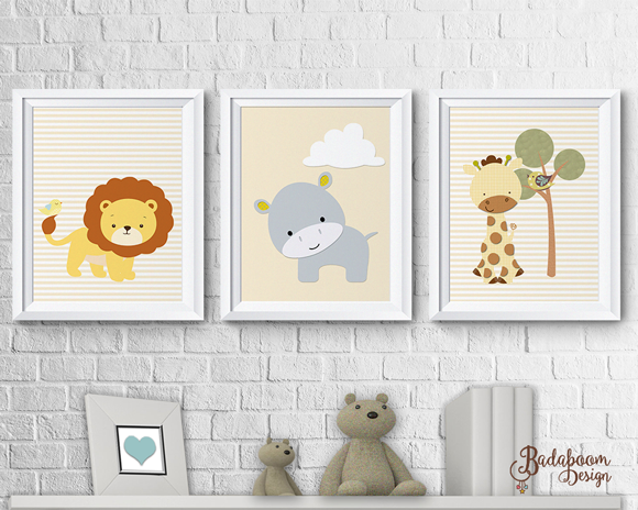poster, posteres, posters, quadro, quadrinho, print, decoracao, quarto, infantil, safari, leaozinho, hipopotamo, girafa, leao, maternidade, bercario