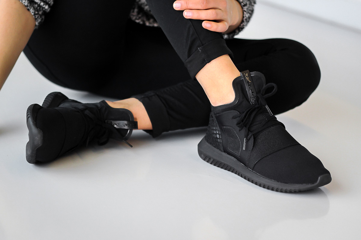 adidas originals tubular defiant shoe black black white SurfStitch