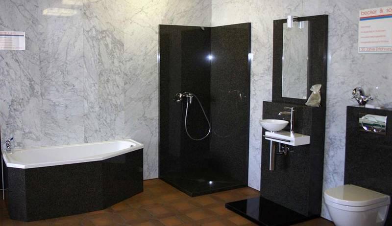 Baño en blanco y negro - Colores en Casa